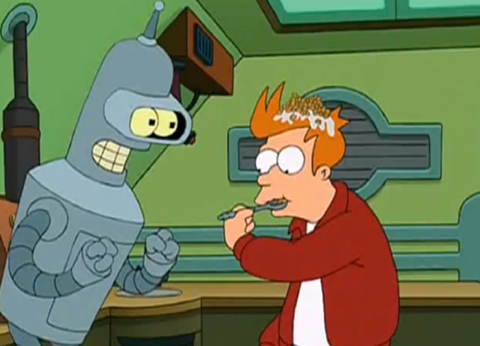 Milking? Futurama did it first!