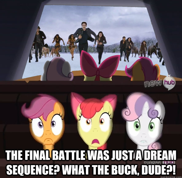 the final battle was just a dream sequence? what the buck, dude?!