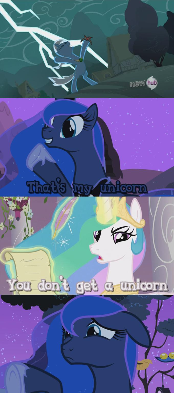 Luna never gets anything