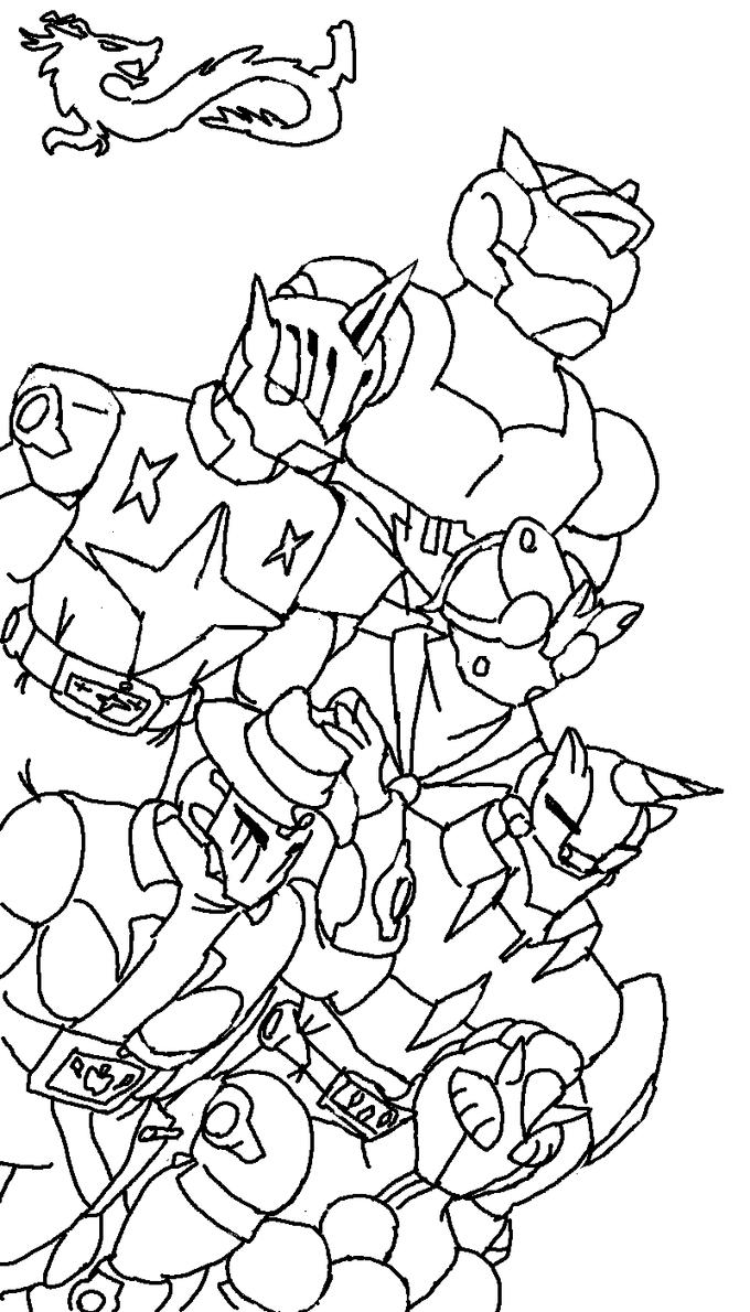 Kamen Rider Discord Knight - All 6 Together