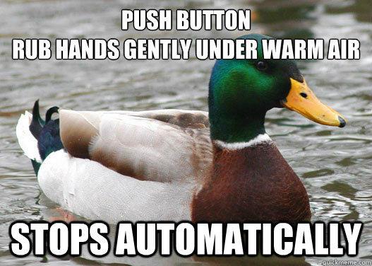Hand dryer mallard