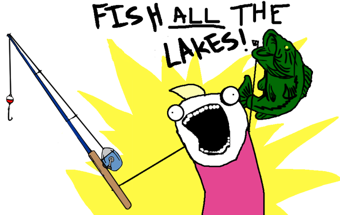 FISH ALL THE LAKES!