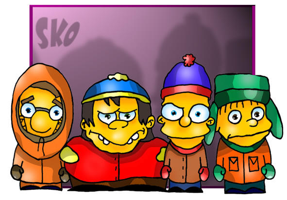 South Park - Simpsons Style