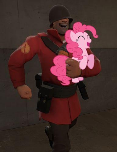 Soldier and Pinkie