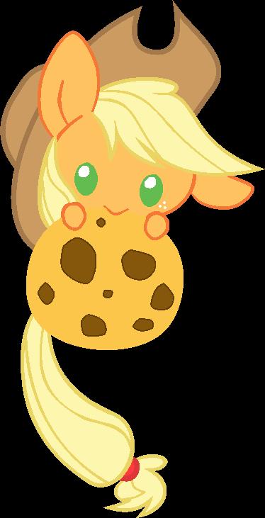 Applejack Chibi Cookie Nom