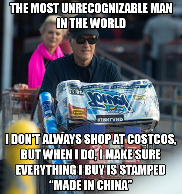 Mitt Romney Shops At Costcos
