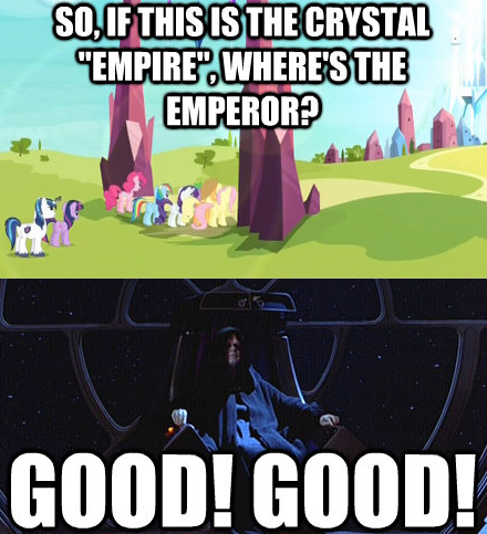 "so, if this is the crystal ""empire"", where's the emperor?"