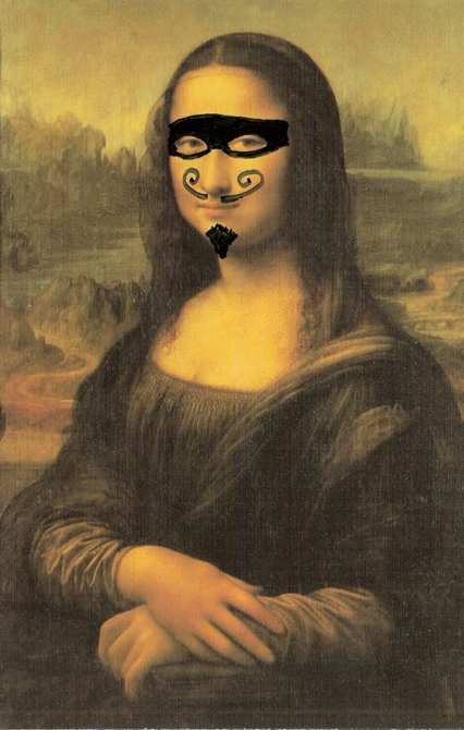 moustached mona again