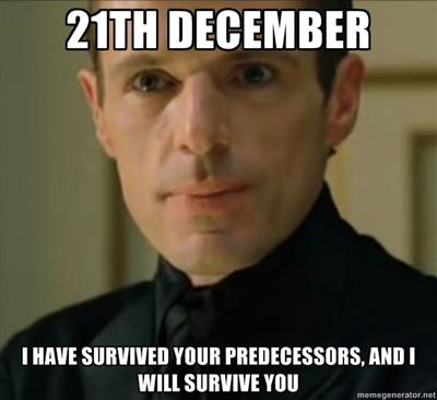Merovingian about 21th december