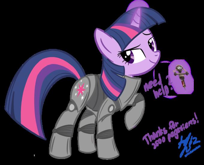 Twilight in power armor