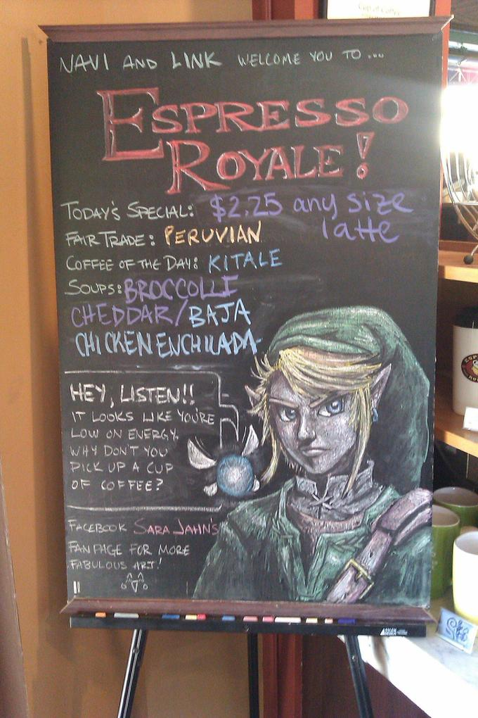 Zelda Themed Coffee Sign
