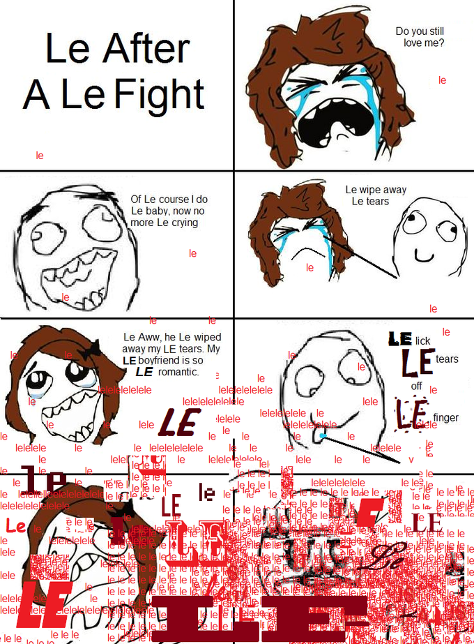 Rage comics are fucking stupid and old if you all couldn't tell already