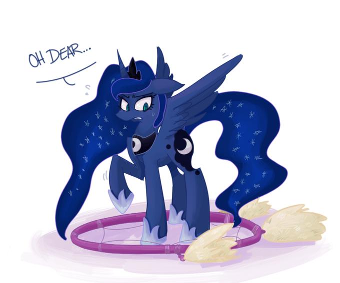 Luna caught by a Dreamcatcher