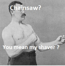 Overly Manly Man Shaver
