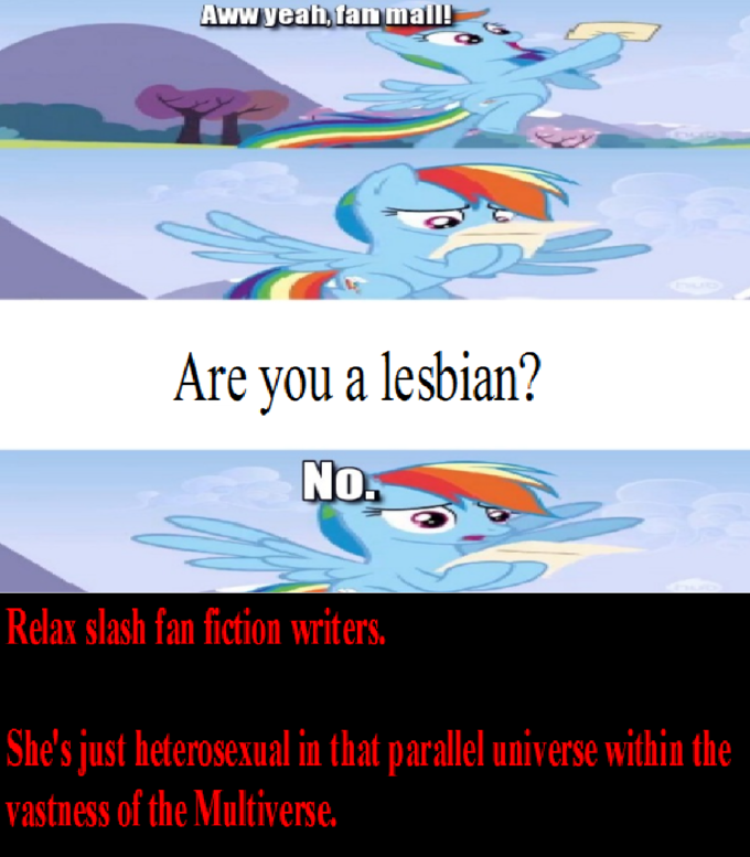 Rainbow Dash gets fan mail