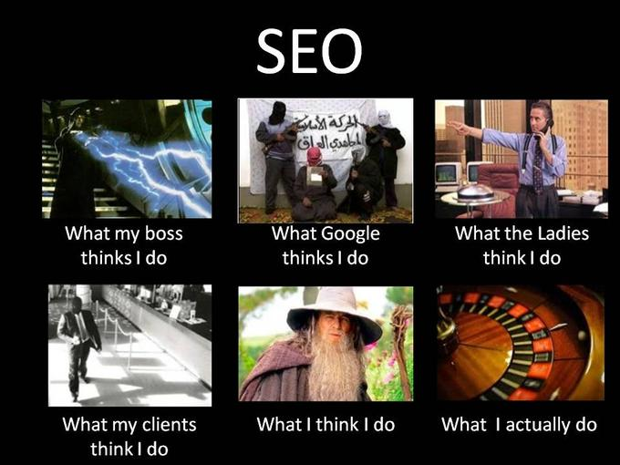SEO - What They Think I Do / What I actually Do