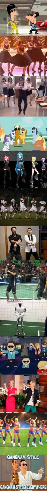 Gangnam Style, Gangnam Style everywhere