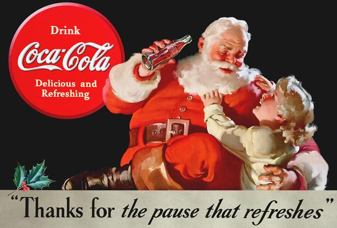 Classic Santa Coca-Cola Picture