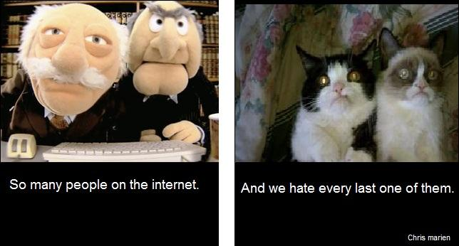 Grumpy Cat and sesame street haters