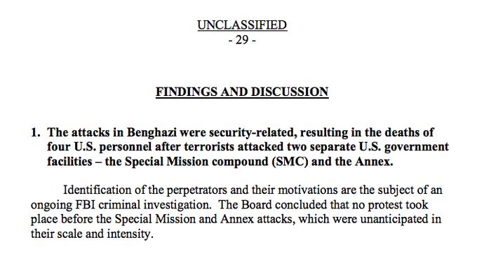 ARB Benghazi Report