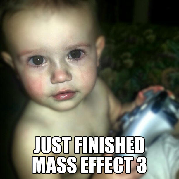 Crying Gamer Baby - Mass Effect 3 Ending