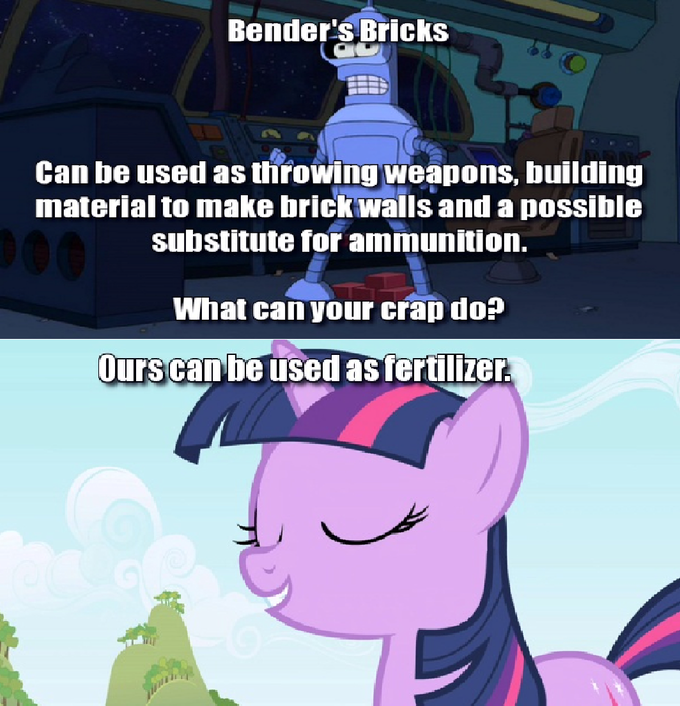 Bender's Bricks Vs Pony's Doodoo
