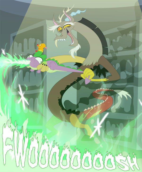 Writers = Discord, New Episode = Spike, The library = This fandom
