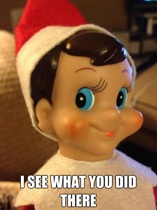I See What You Did There Elf