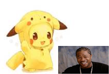 Pikachu in a Pikachu (hoodie)