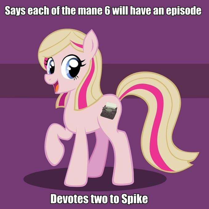Take one spike episode out and replace it with a Rarity one.