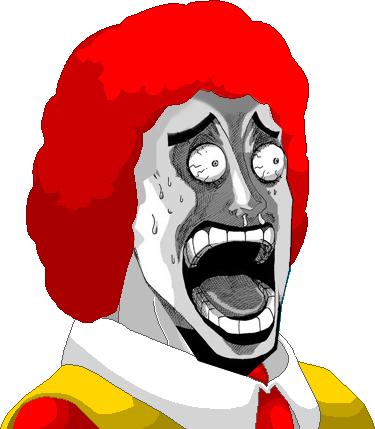 Donald McDonald HOLY SH*T face