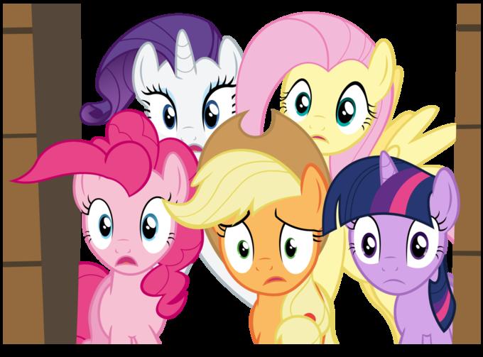 Five worried ponies