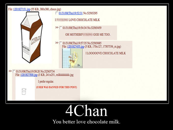 4chan Loves Chocolate Milk
