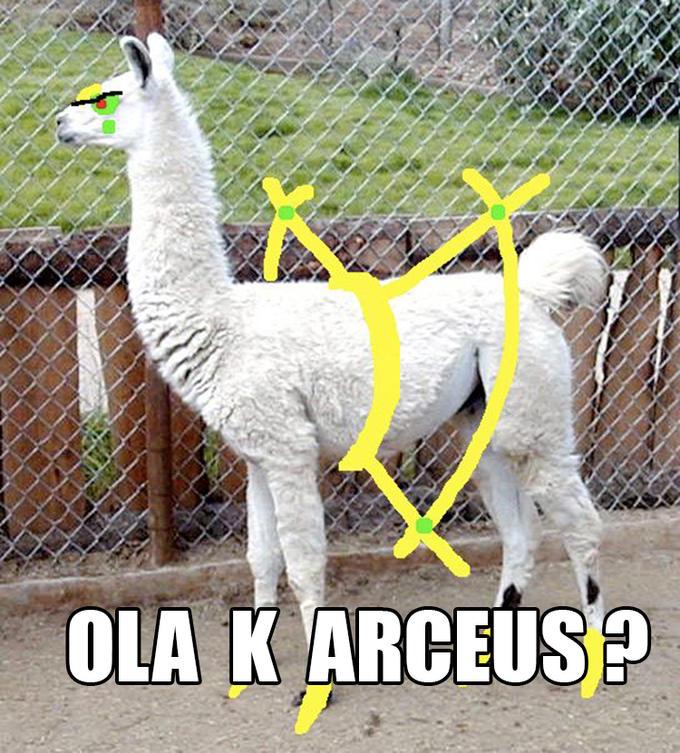 OLA K ARCEUS?