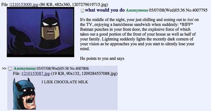 Batman chocolate milk