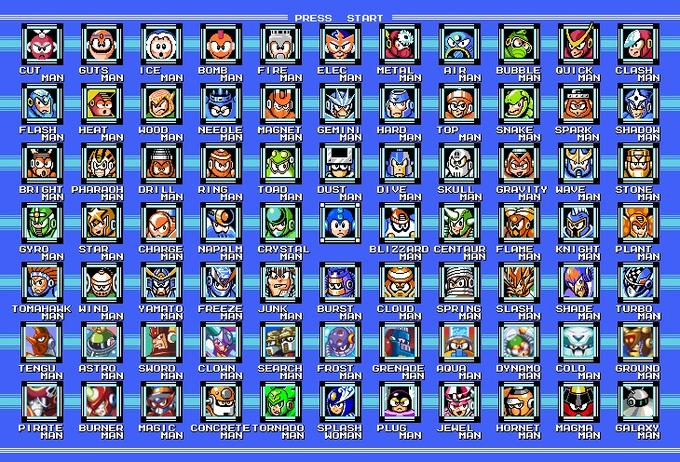 All Robot Masters MM 1-9 (and MM&B)