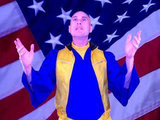 """UFO Phil during his campaign for """"President of Earth"""""""