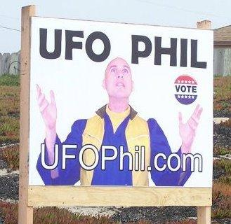 UFO Phil billboard in California