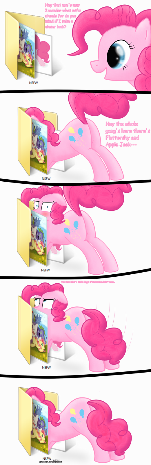Pinkie checking your pony archives
