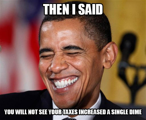 Obama increases taxes