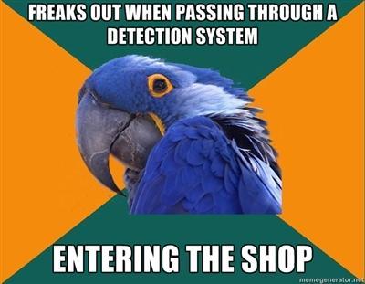 Entering the shop