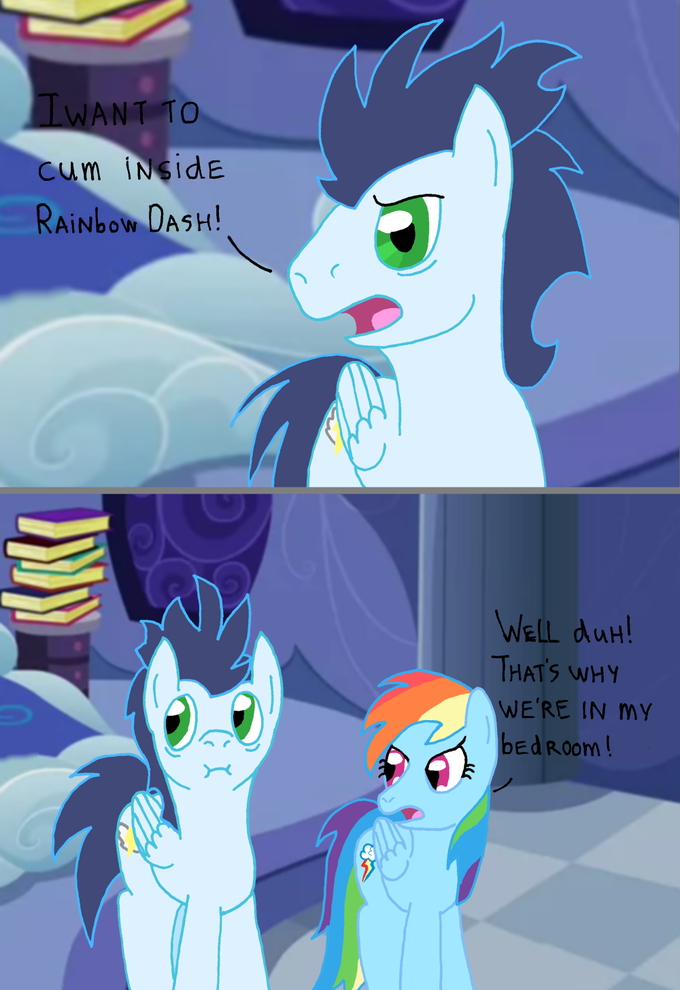 Soarin' wants to do something with Rainbow Dash