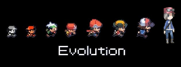 Pokemon Game Character Evolution