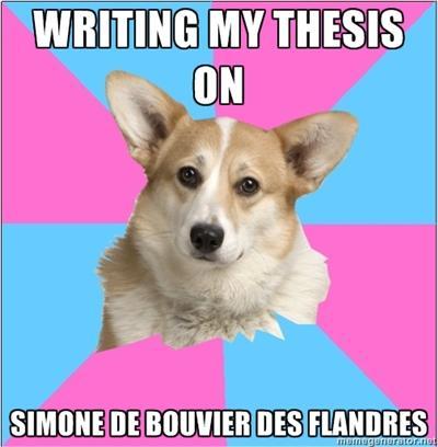 Writing My Thesis on Simone de Bouvier des Flandres