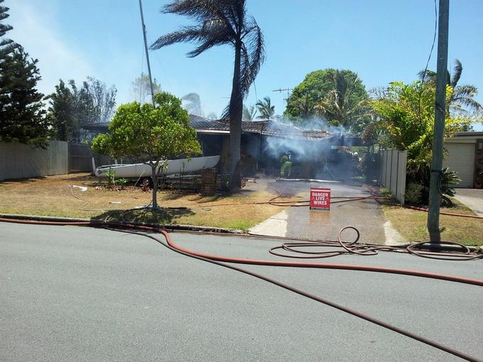 House Fire down the road from me