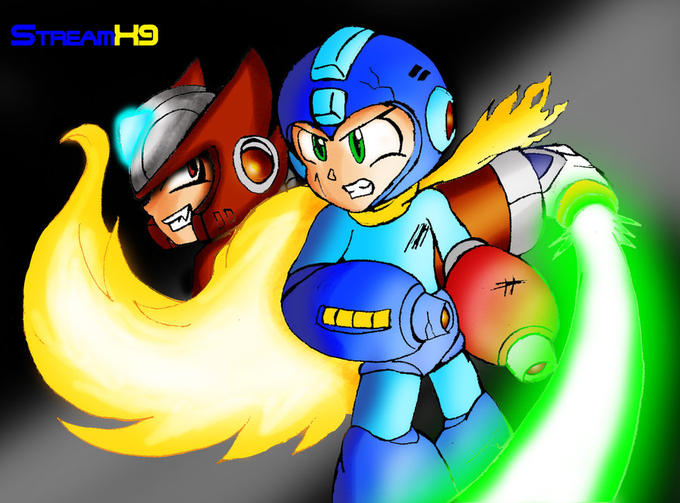 Megaman vs. Zero by StreamX9