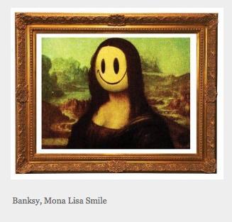 Banksy's Mona Lisa smile