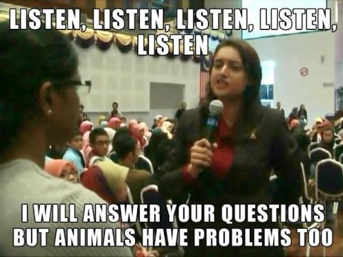I will answer your questions, but animals have problem too.