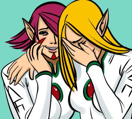 Laughing Eldar Whores