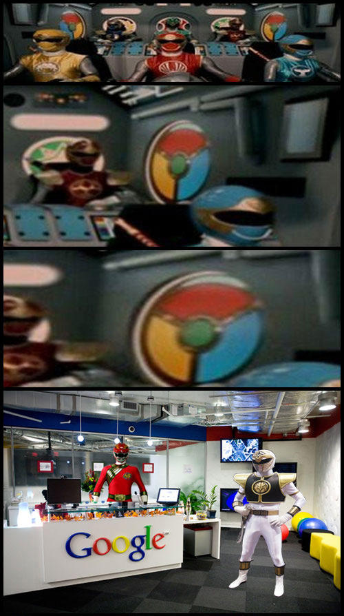 Megazord Powered by Google Chrome